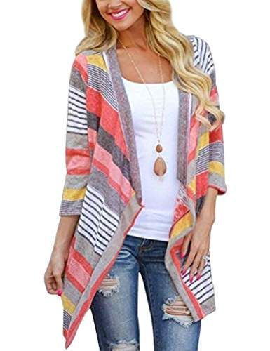 WOMEN'S FALL & WINTER FASHION TRENDS 2018! Great cardigans for Autumn. Layers. Stylish Amazon fashion trends. Amazon Prime free shipping! *Affiliate - colorful cardigan. Great for cool Summer nights into Fall. Winter to spring outfit
