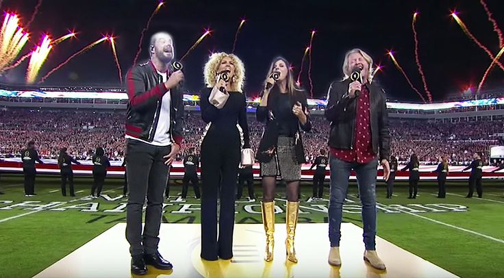 Country Music Lyrics - Quotes - Songs Modern country - Little Big Town Electrifies Stadium With Paralyzing National Anthem Performance - Youtube Music Videos http://countryrebel.com/blogs/videos/little-big-town-electrifies-stadium-with-paralyzing-national-anthem-performance