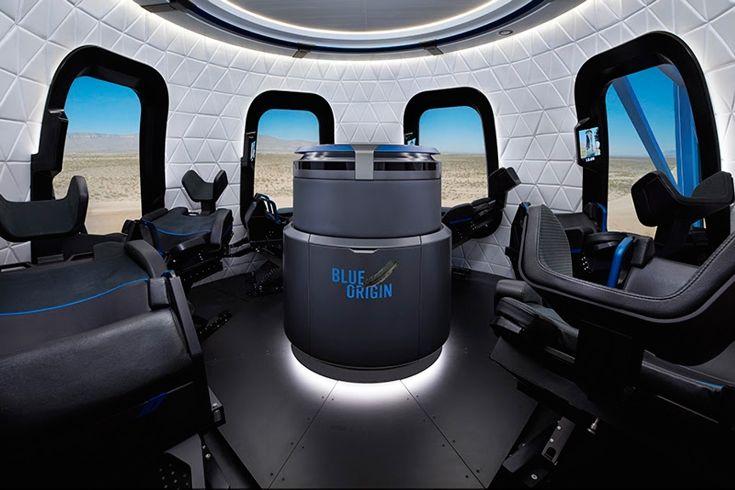 Blue Origin показала как выглядит капсула туристического космического корабля New Shepard изнутри