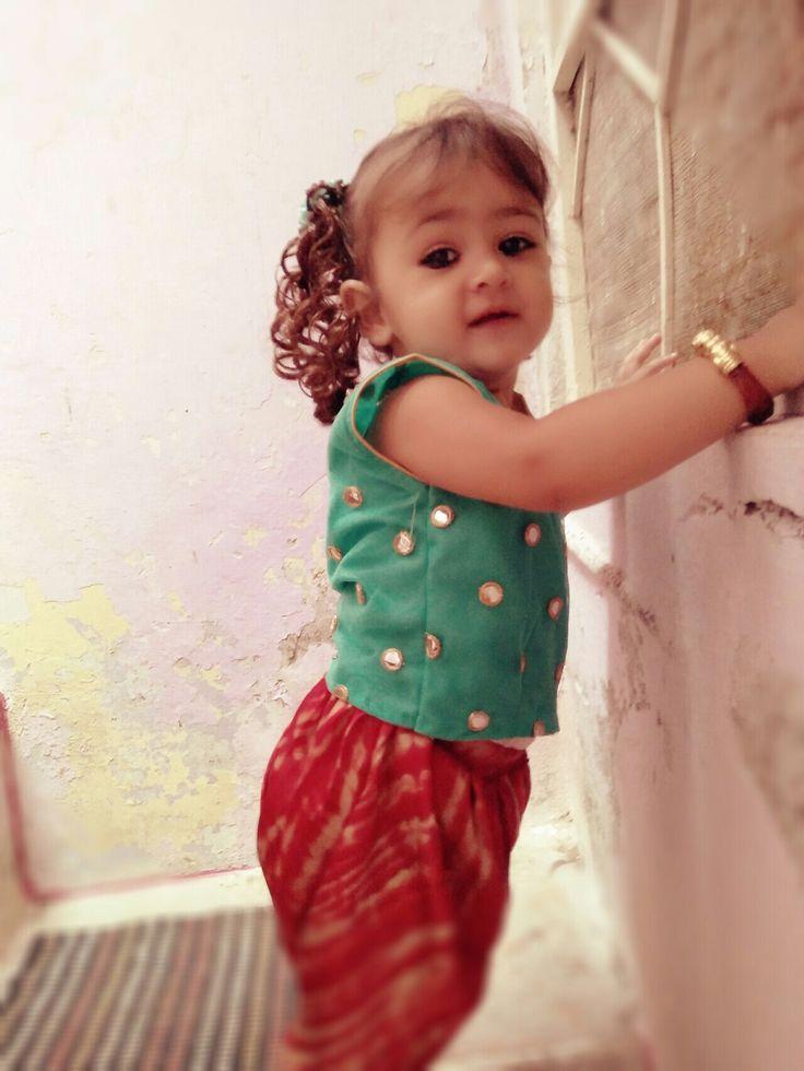 Short choli wid dhoti pants perfect for rakhi