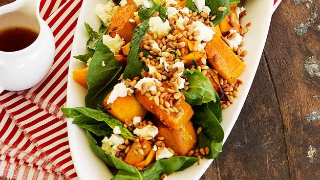 Australian House and Garden recipe for pumpkin salad with marinated fetta.