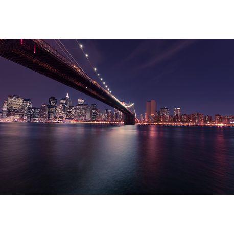 Obraz na płótnie #BrooklynBridge nocą dostępny w rozmiarach 150x100, 120x80, 90x60, 60x40, 40x26. Najwyższej jakości materiały. #fedkolor #obraz #obraznapłótnie #zdjęcie #fotografia #architektura #most #BrooklynBridge #noc #miastonocą #miasto #miejskie #dopokoju #dobiura #pomysł #inspiracja #dyi #wnętrza #interiors