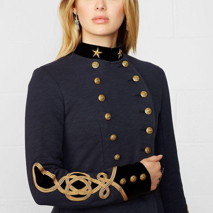 Ralph Lauren Denim & Supply Women Military Army Band Coat Jacket Blazer…