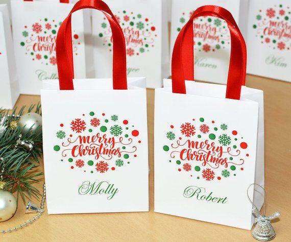 Christmas Party Bag Christmas Treat Bag Custom Party Bag Christmas Custom Party Bag Merry Christmas Party Bag Merry Christmas Favor Bag