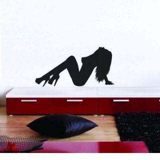 Наклейка по тематике от 2stick.ru Элегантно сидящая девушка с поднятой головой
