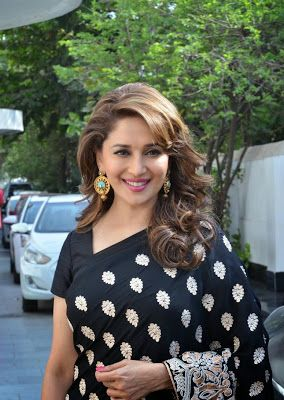 Madhuri Dixit Looks Gorgeous In Saree On The Sets Of 'Dance India Dance - Super Moms' In Mumbai