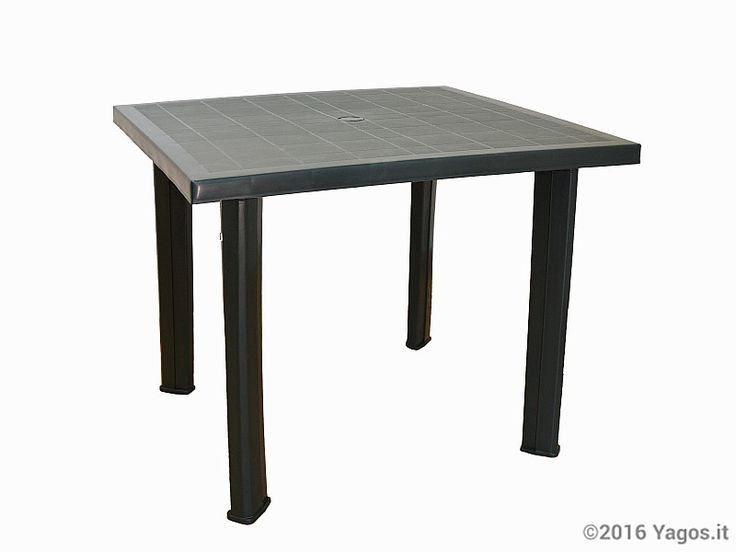 Tavolo da giardino verde Progarden in resina 80 x 75 x h 72 cm