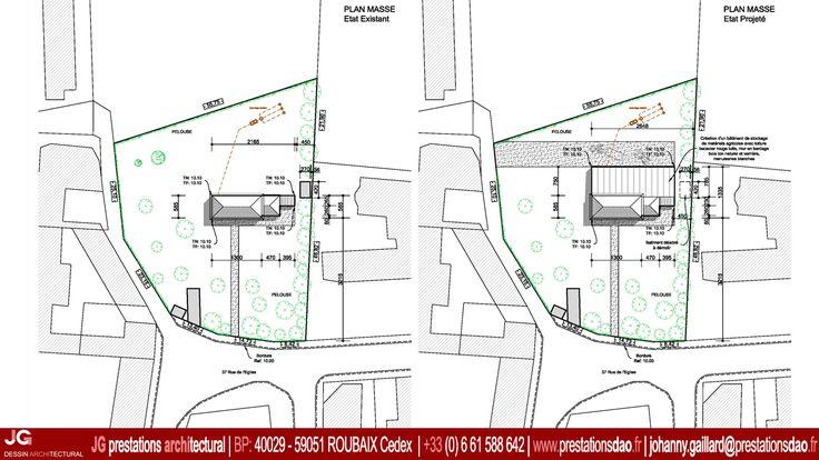 Jg dessin architectural plan masse pour le permis de for Permis de construire agricole