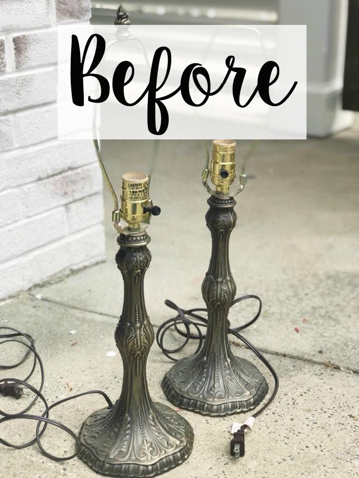 Baroque Table Lamp Makeover Olivia S Bedroom Progress Lamp Makeover Furniture Makeover Old Lamps