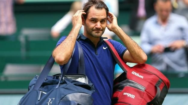 #tennis #news  Federer beaten in Halle semi-final
