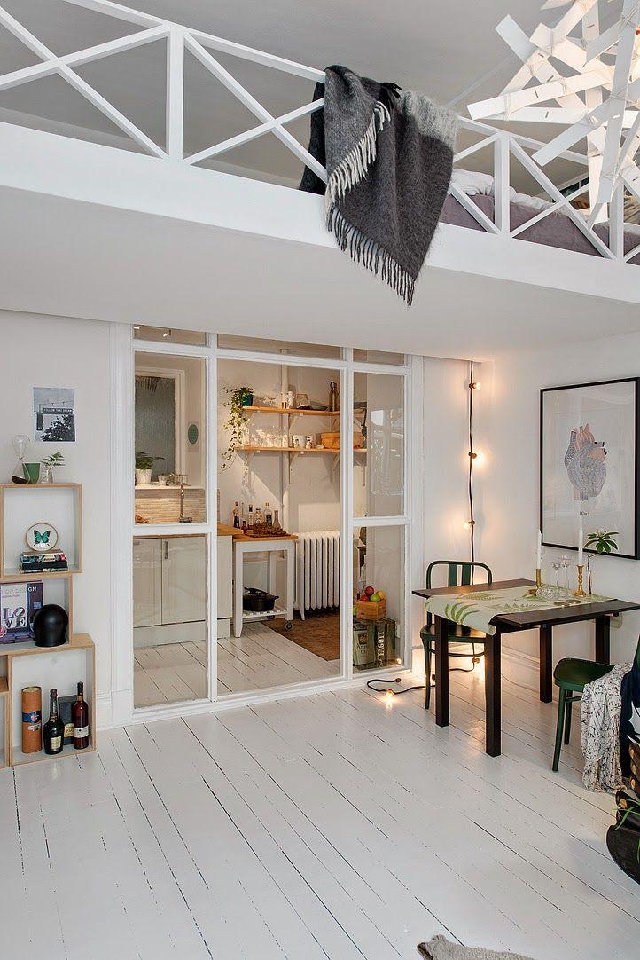 Suède / Un petit espace superbement optimisé /
