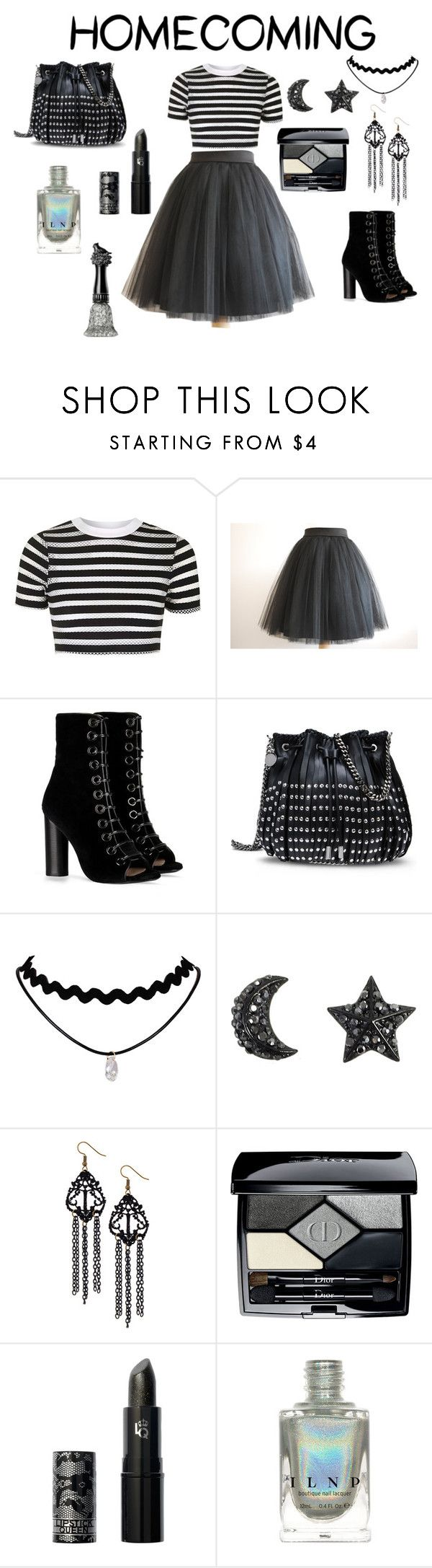 """""""Black Tutu!"""" by viola-xox ❤ liked on Polyvore featuring Topshop, Black Swan, Barbara Bui, STELLA McCARTNEY, Christian Dior, Lipstick Queen and Anna Sui"""