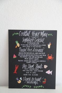 Illustrated Wedding Menu
