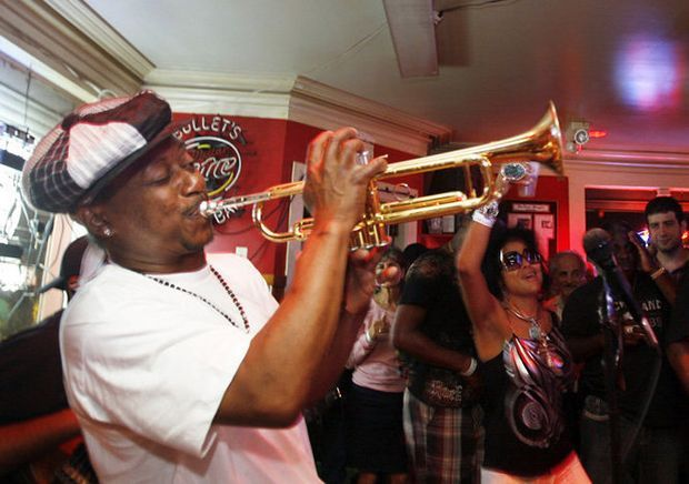 Although it comes with the requisite TVs, this 7th Ward dive is a stellar spot to find an earful of local music. Kermit Ruffins plays a cover-free gig here just about every Tuesday night. Alternating bands take the floor on...