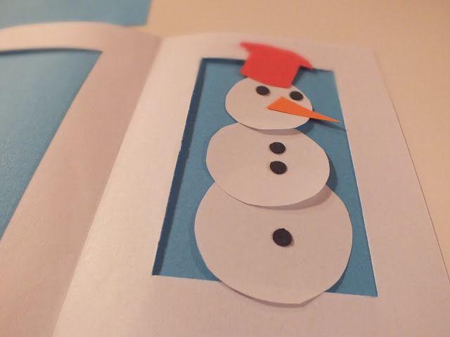 hóemberépítő képeslap