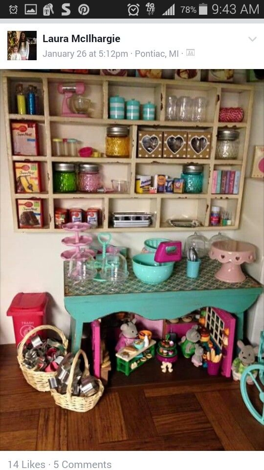 American girl dollhouse kitchen
