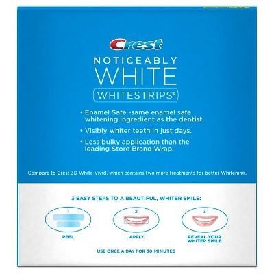 Crest Whitestrips Noticeably White - 10ct