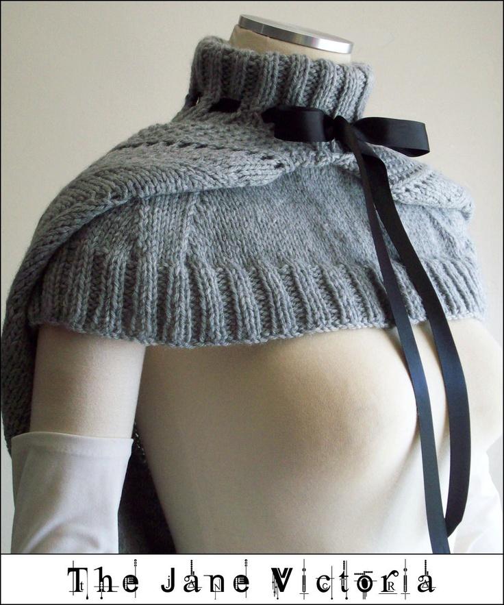Hooded Mozzetta Knitting Pattern, Silmarwen Surion, PDF. $5.00, via Etsy.
