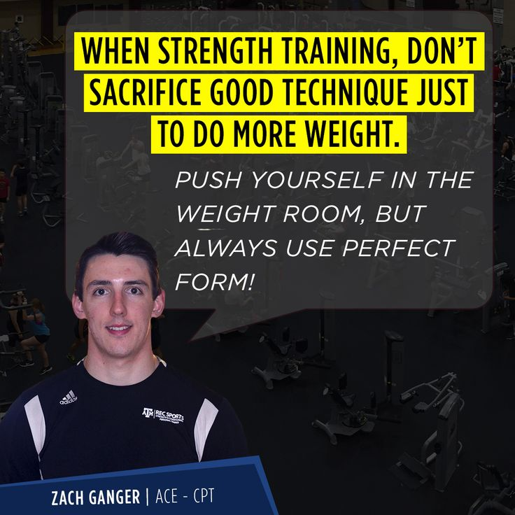 Strength conditioning with images strength