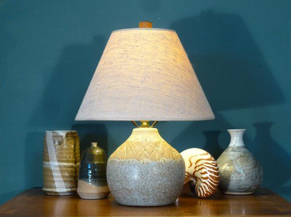 Martz Marshall Studios Teak Wood Lamp Finial Danish Modern Style