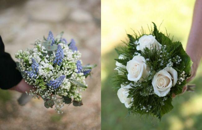 Rosas brancas e folhas verdes: um buquê clássico e clean
