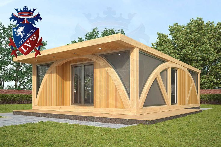 Residential Timber Frame Glulam Insulated Park Home by www.logcabins.lv (1)