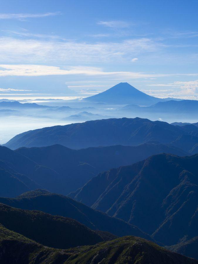 : Cloud Gradation, Mountain, Landscape, Photo