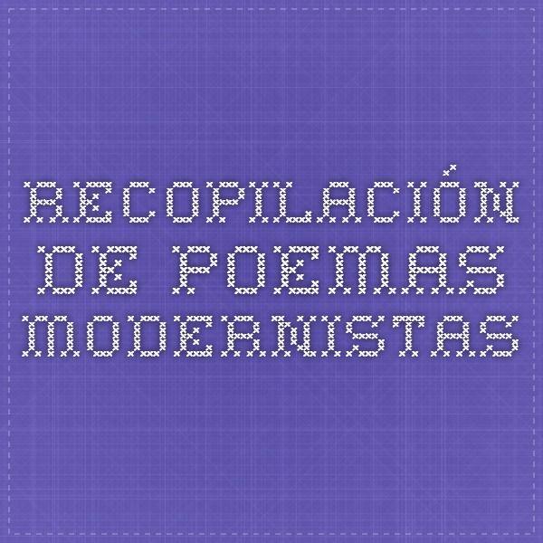 Recopilación de poemas modernistas