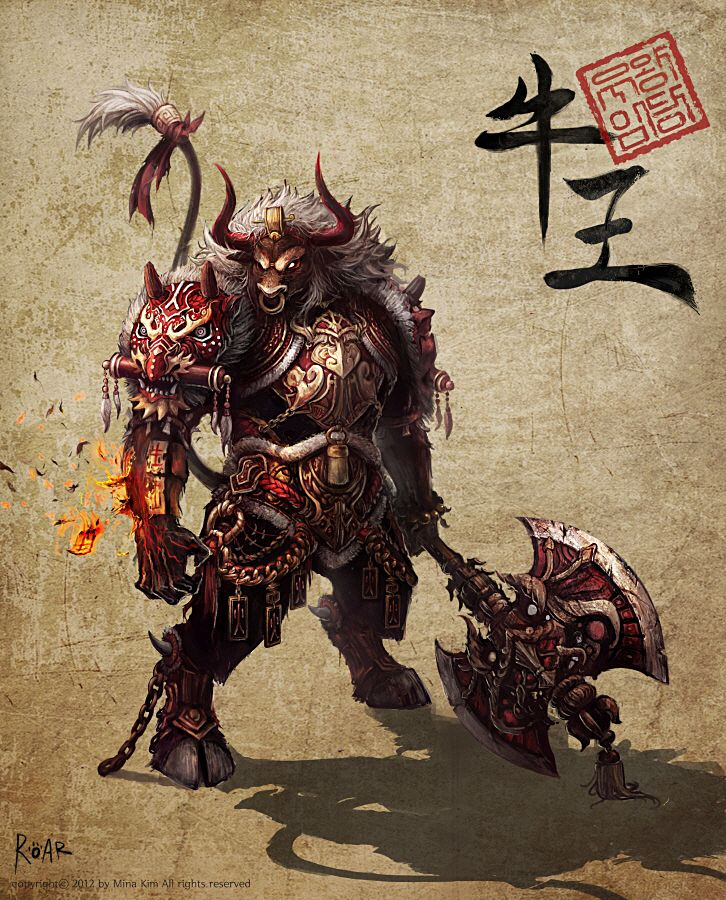 GGSCHOOL, Artist 김민아,  Student Portfolio for game,  2D Monster Concept Art,  www.ggschool.co.kr