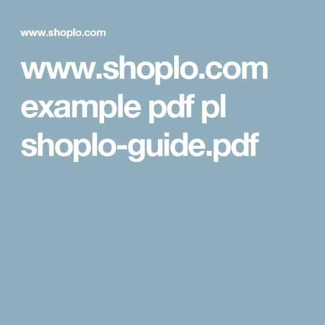 www.shoplo.com example pdf pl shoplo-guide.pdf