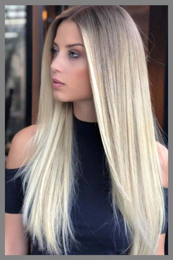 Glamerous Long Sleek Hairstyle For Womens With Straight Hair In 2019 Straight Hairstyles Long Straight Hair Hair Highlights
