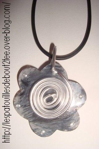 pendentif plastique fou / spirale Bout 2 fée