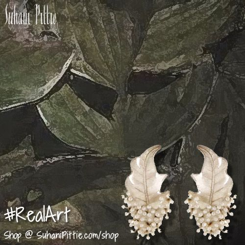 For the True Connoisseurs of Real Art. Exclusively Handcrafted Jewellery by Suhani Pittie! Shop at suhanipittie.com/shop  #SuhaniPittie #HandcraftedJewelry #SilverJewelry #PearlJewelry #Earrings