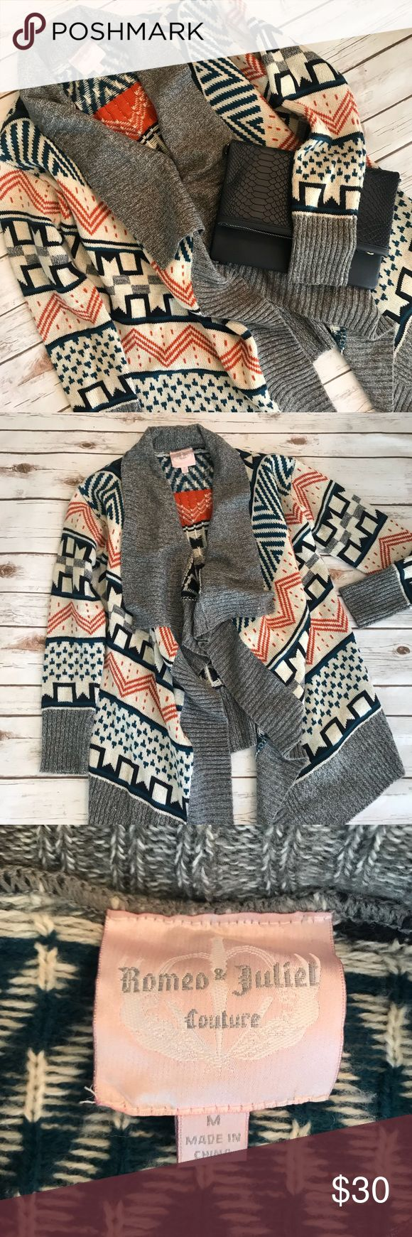 Romeo & Juliet Couture tribal print knit sweater Perfect condition tribal print sweater Romeo & Juliet Couture Sweaters