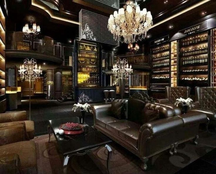 Modern Luxury Man Cave With Cigar Lounge And Bar Best Man Cave