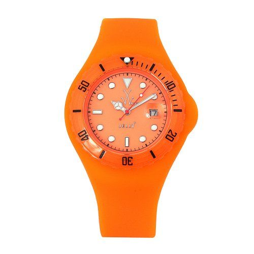 Women's Wrist Watches - Toy Watch Womens JYD03OR Jelly Fluo Orange Rubber Watch * Details can be found by clicking on the image.