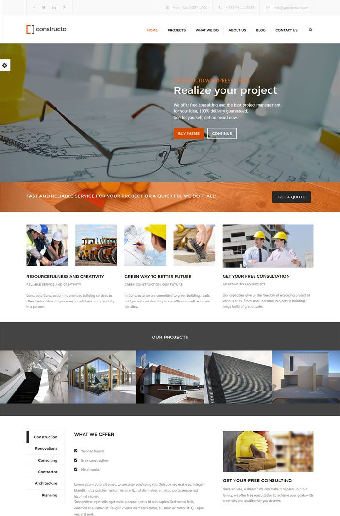 Constructo WordPress Business Theme Review