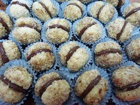 Knusprige Nusskugeln mit Schokoladencreme