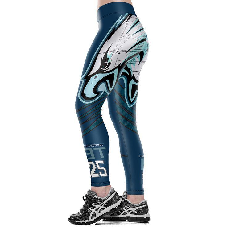 3D Eagle Print High Waist Fitness Legging 3