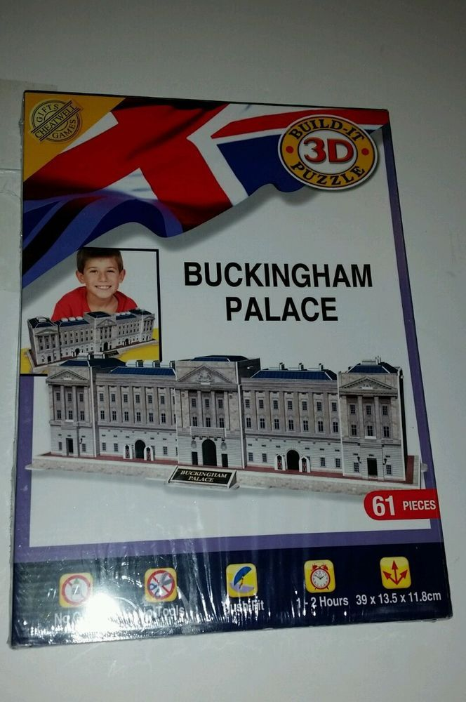 Build Your Own 3D Puzzle Model Kit - Buckingham Palace - Brand New Sealed #CheatwellGames