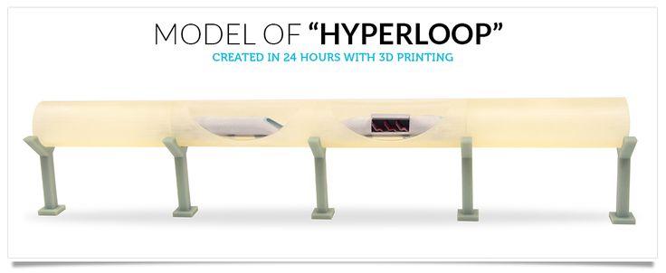 Elon Musk's Hyperloop Brought To Reality Through #3DPrinting