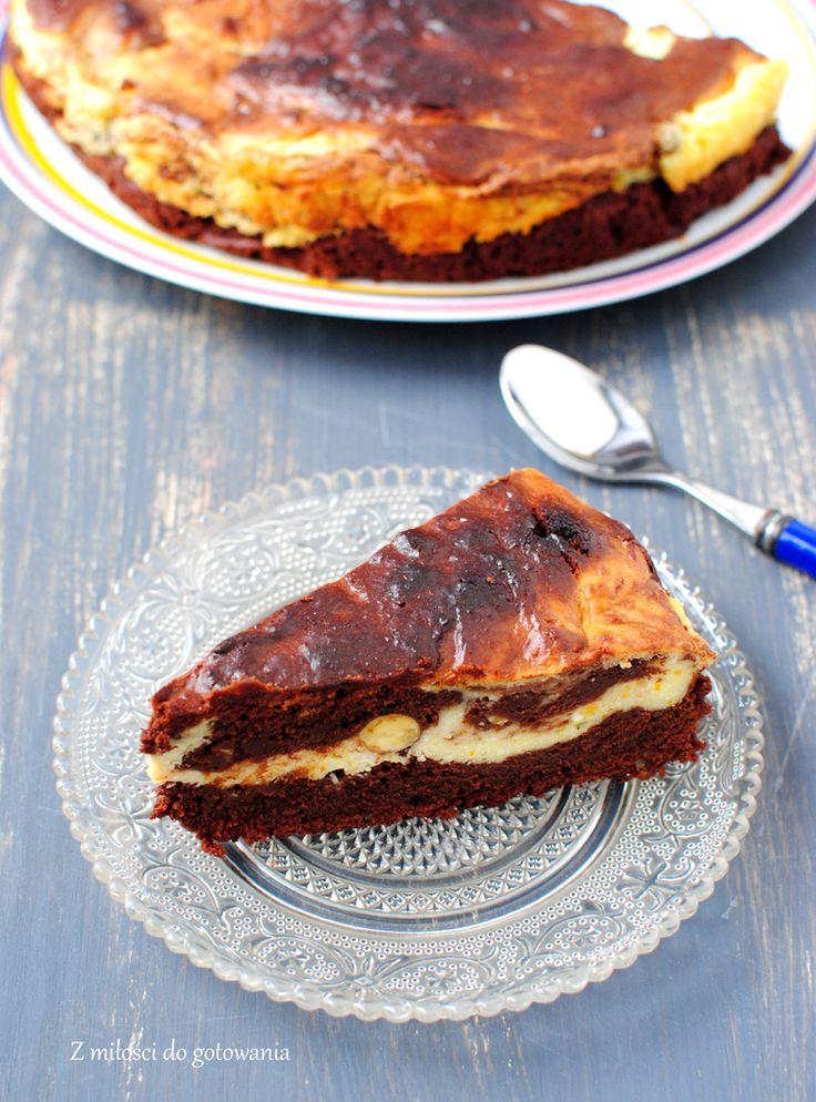Ciasto sernikowo-czekoladowe