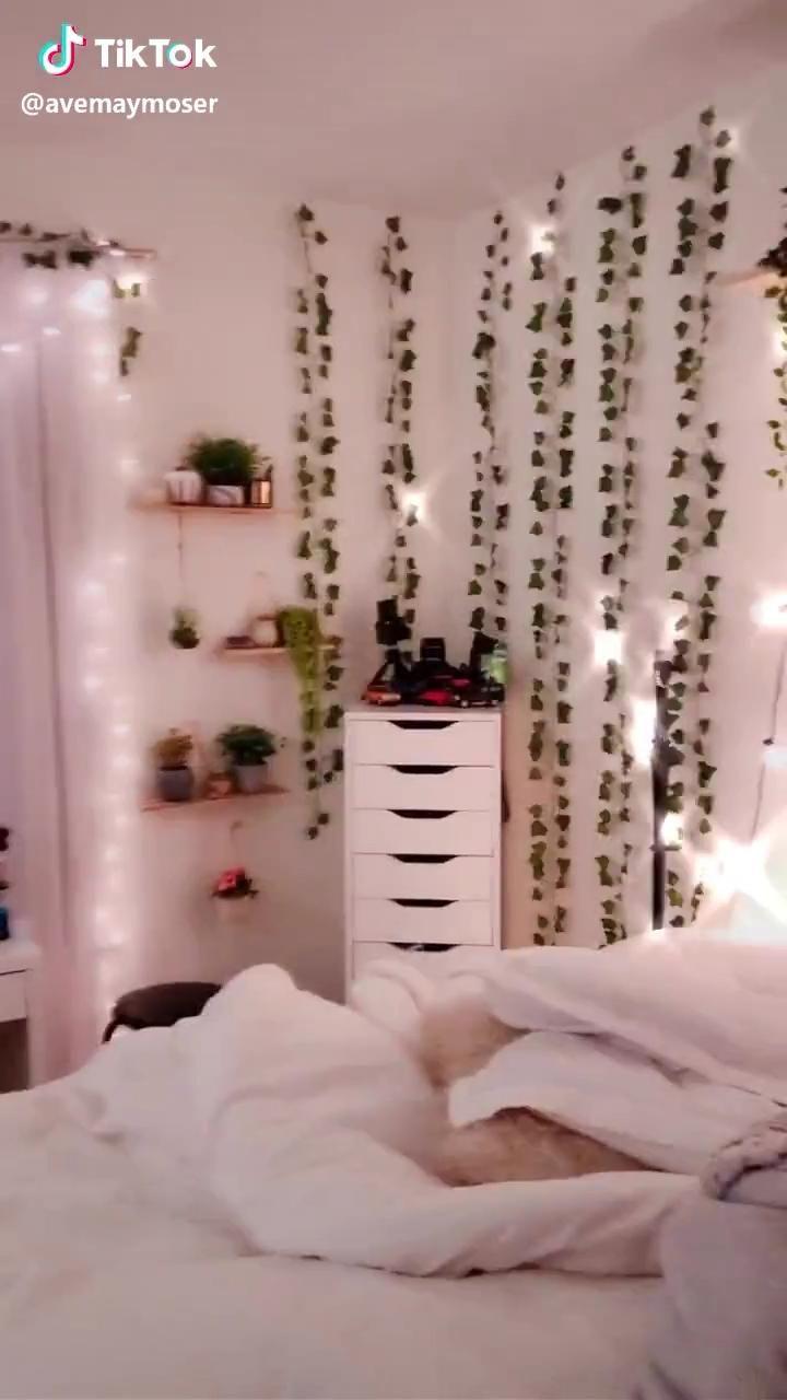 tiktok bedroom inspo vanity aesthetic bedrooms teen rooms cool makeover lights teenage led decal inspiration vine rich