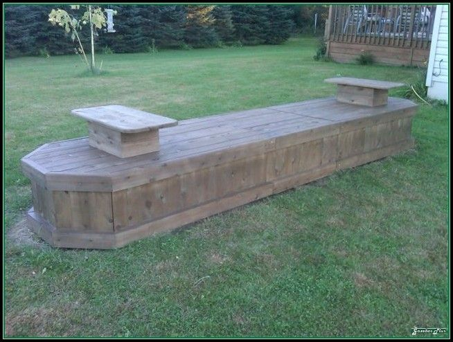 hide septic accesss with a long bench by a fire pit - Garden Ideas To Hide Septic Tank