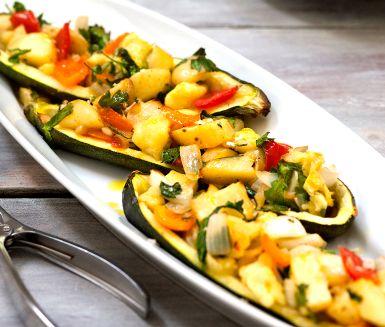 Rostad zucchini får sällskap av fetaost och vitlök en fin förrätt med…