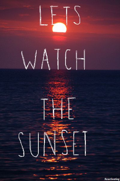 Let's Watch the Sunset at the beach with the kids playing in the sand; or just you and I holding hands❤️