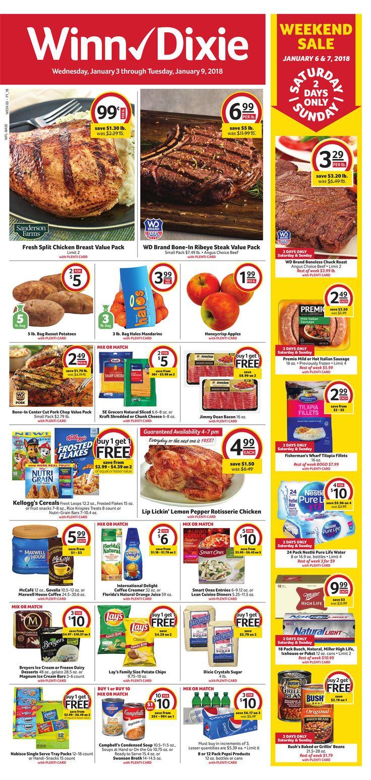 Winn Dixie Weekly Ad Jan 03-09, 2018 https://www.weeklyadspecials.com/winn-dixie-weekly-ad/