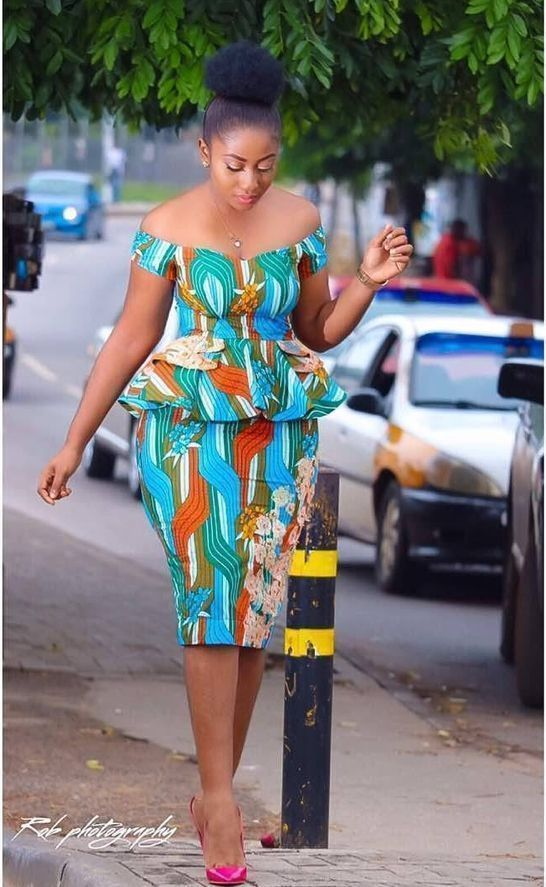 dc061ea1e48 Classiest simple ankara top and short skirt styles for plus size ladies