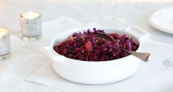 Orange and port red cabbage