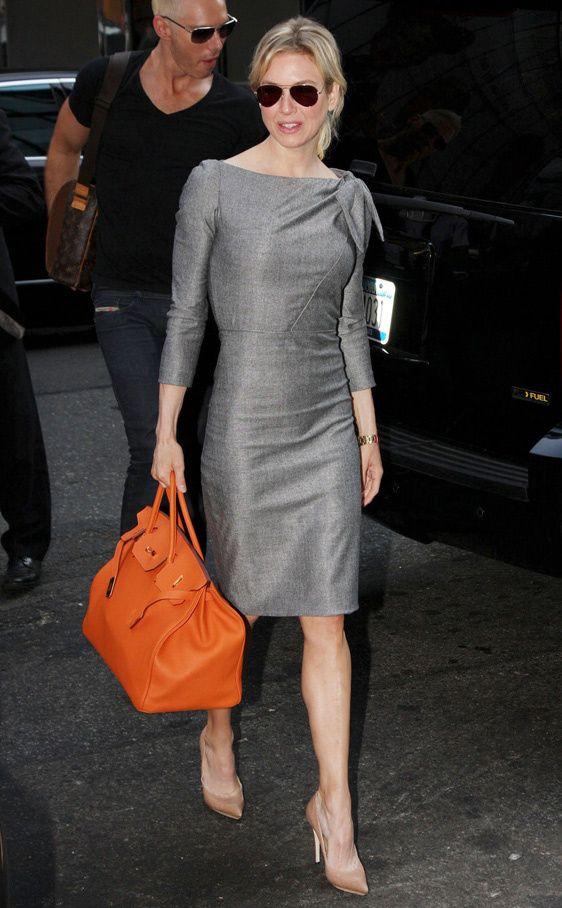Los bolsos iconos de las firmas de moda: Renée Zellweger con el Birkin de Hermès